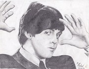 Beatlemania Prints - Paul McCartney Print by Ethan Morehead