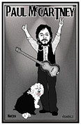 Ringo Starr Metal Prints - Paul McCartney Metal Print by John Goldacker