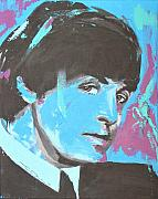 Beatles Drawings Metal Prints - Paul McCartney Single Metal Print by Eric Dee