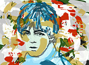 Pop Icon Drawings Posters - Paul McCartney Poster by Suzanne Gee