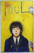 Beatles Pastels Prints - Paul Print by Mike  Mitch