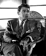 Sitting In Chair Posters - Paul Muni, Portrait Ca. 1945 Poster by Everett