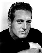 Colbw Photo Framed Prints - Paul Newman, 1963 Framed Print by Everett
