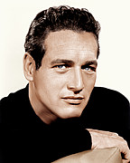 Headshot Framed Prints - Paul Newman, Ca. 1963 Framed Print by Everett