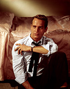 Newman Framed Prints - Paul Newman In The Late 1950s Framed Print by Everett