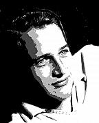 Movie Star Paintings - Paul Newman by Richard La Valle