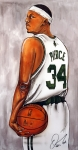 Boston Celtics Posters - Paul Pierce - The Truth Poster by Dave Olsen