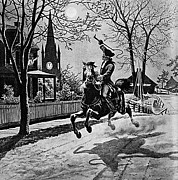 Paul Revere Posters - Paul Revere, Midnight Ride, April 18th Poster by Photo Researchers