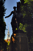 Old North Church Posters - Paul Revere Statue Poster by Joann Vitali