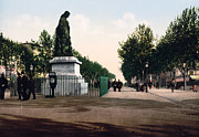 Paul Riquet Statue And The Allees In Beziers - France Print by International  Images
