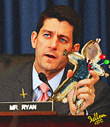Barrack Obama Posters - Paul Ryan Voodoo Politics Poster by Che Rellom