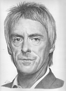 Mod Drawings - Paul Weller by Karen  Townsend