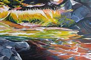 Falls Paintings - Paulina Creek by Melody Cleary