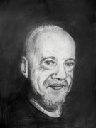 Writer Drawings Prints - Paulo Coelho Print by Bekim Axhami