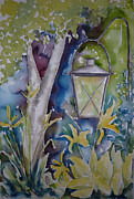 Night Scene Originals - Pausegarden Lantern by Pat Katz