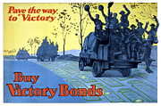 Ww1 Mixed Media Framed Prints - Pave The Way To Victory Framed Print by War Is Hell Store