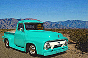 1956 Ford Truck Framed Prints - Pavement Ends Framed Print by Tim McCullough