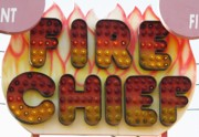 Amusement Ride Posters - Pavilion Fire Chief Poster by Kelly Mezzapelle