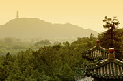 Rooftop Framed Prints - Pavilion rooftops and lush foliage as seen from the Summer Palace Framed Print by Sami Sarkis