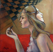 Chess Paintings - Pawn by Jacque Hudson-Roate