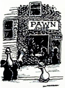 Shops Drawings Prints - Pawn Shop Print by James  Christiansen