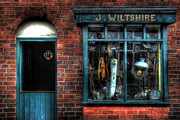 Black Country Framed Prints - Pawnbrokers Shop Framed Print by Yhun Suarez