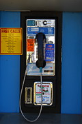 Telephones Prints - Pay Phone . 7D15934 Print by Wingsdomain Art and Photography