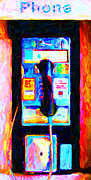 Collectables Digital Art Framed Prints - Pay Phone . v2 Framed Print by Wingsdomain Art and Photography