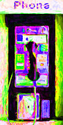 Telephones Prints - Pay Phone Print by Wingsdomain Art and Photography