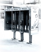 Phone Framed Prints - Pay Phones - Still in NYC Framed Print by Angie McKenzie