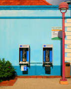 Book Flower Prints - Pay Phones Print by Perry Webster