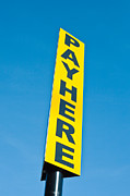 Pay Here Framed Prints - Pay sign Framed Print by Tom Gowanlock