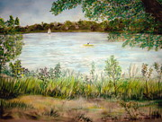 Decorating Pastels - Paynes Prairie Lake by Larry Whitler
