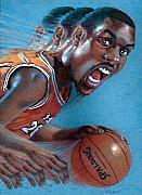 Basketball Sports Pastels Prints - Payton Print by Valerian Ruppert