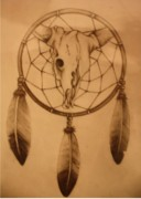 Dream Catcher Gallery Drawings Prints - Pd7-10 Print by Shannon Rains