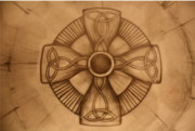 Celtic Cross Drawings - Pd8-10 by Shannon Rains
