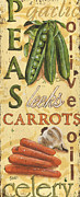 Carrots Prints - Pea Soup Print by Debbie DeWitt