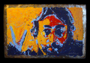 Beatles Sculptures - Peace - Lennon on Steel II by Chris Mackie