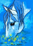 Horse Drawing Mixed Media Prints - Peace 1 Print by Tarja Stegars
