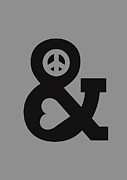 Logo Posters - Peace and Love Poster by Budi Satria Kwan