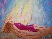 Worship God Paintings - Peace and Rest by Wendy Smith