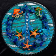 Clay Glass Art - Peace and Searenity by Sheri Thrift Roberson