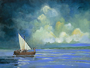 Calming The Storm Paintings - Peace be Still by Robert North Jr