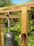 Garden Sculptures - Peace Bell 2nd image   SOLD by Steve Mudge