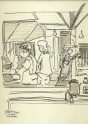 Peace Camp Saturday Kitchen Crew Print by James  Christiansen