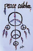 Catcher Drawings - Peace Catcher by Sladjana Endt