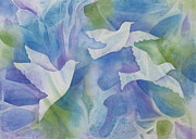 Dove Paintings - Peace by Deborah Ronglien