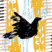 Primitive Prints - Peace Dove 1 Print by Carol Leigh