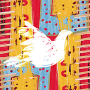 Primitive Prints - Peace Dove 2 Print by Carol Leigh