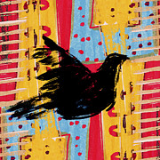 Primitive Prints - Peace Dove 3 Print by Carol Leigh